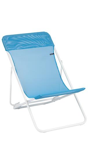 Lafuma Mobilier MAXI TRANSAT Camping zitmeubel Sun Glam Batyline blauw/wit
